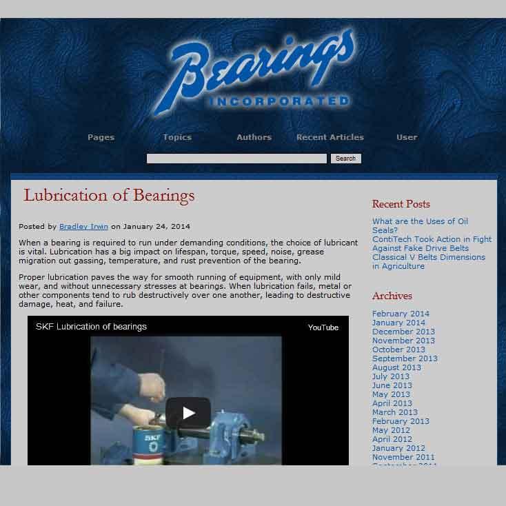 Bearings, Incorporated Blog