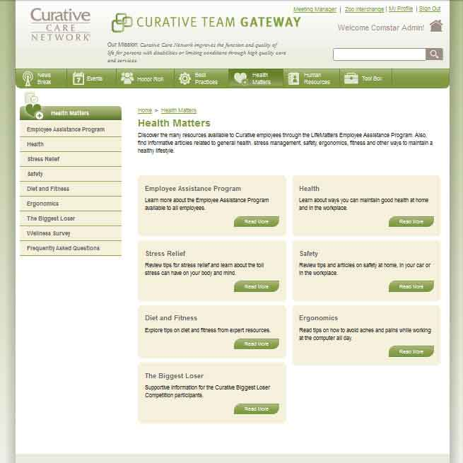 Curative Care Team Gateway