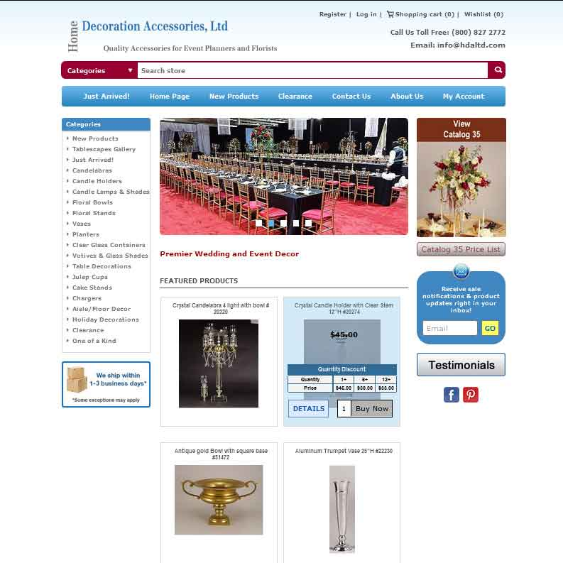 Home Decoration Accessories, Ltd.