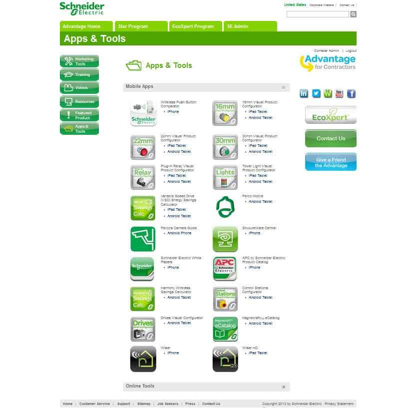 Schneider Electric Contractor's Portal